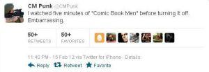 CM Punk's tweet. Click to enlarge.