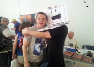 John Lees (Writer) with Laptop Guy