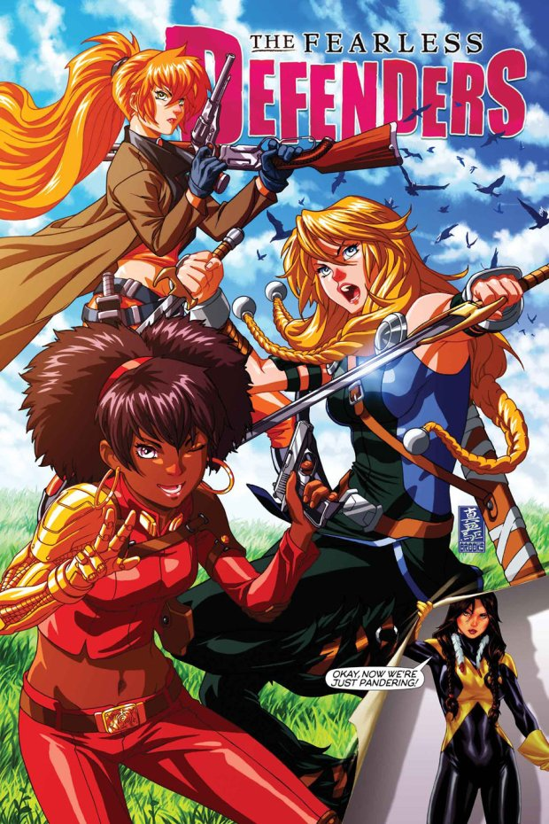 Fantastic Manga styled cover to issue 9By: Mark Brooks