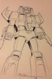 Starscream sketch, courtesy of Mr Wildman, Thought Bubble 2013.