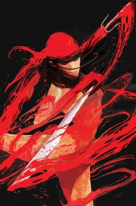 Cover to Elektra #2 by Mike Del Mundo. Click to enlarge.