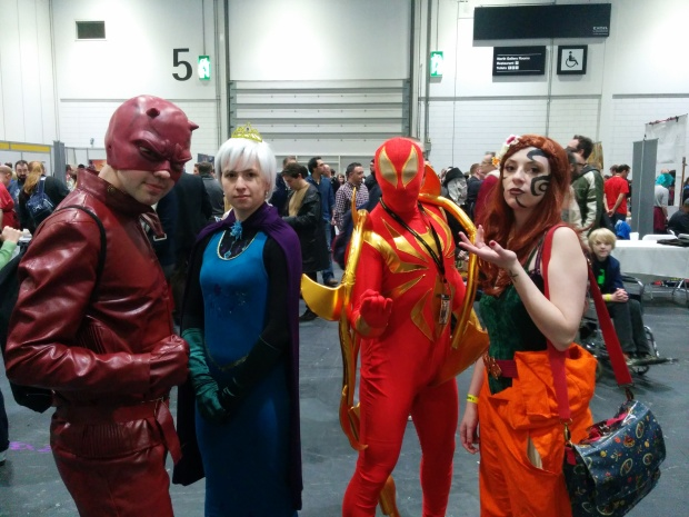 A Daredevil, An Iron Spider and i can only apologize, i don't know the other two
