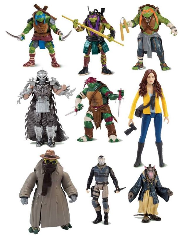 Official Image Of Tmnt Movie Action Figures Big Comic Page