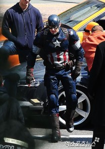 Cap as he will feature in Age of UltronClick to enlarge.