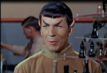 As he was in his younger years, during Star Trek's Pilot Episode.