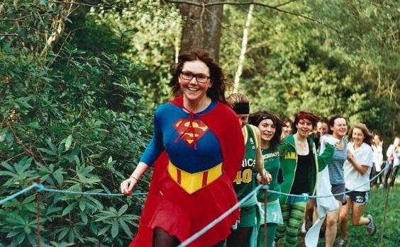 Rocking my school's 1,500 dressed as Superwoman