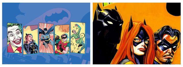 Batman '66 (L) and Batman: Thrillkiller (R)