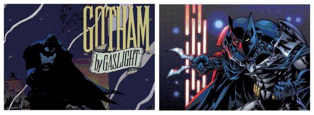 Gotham By Gaslight (L) and Batman 1,000,000 (R)