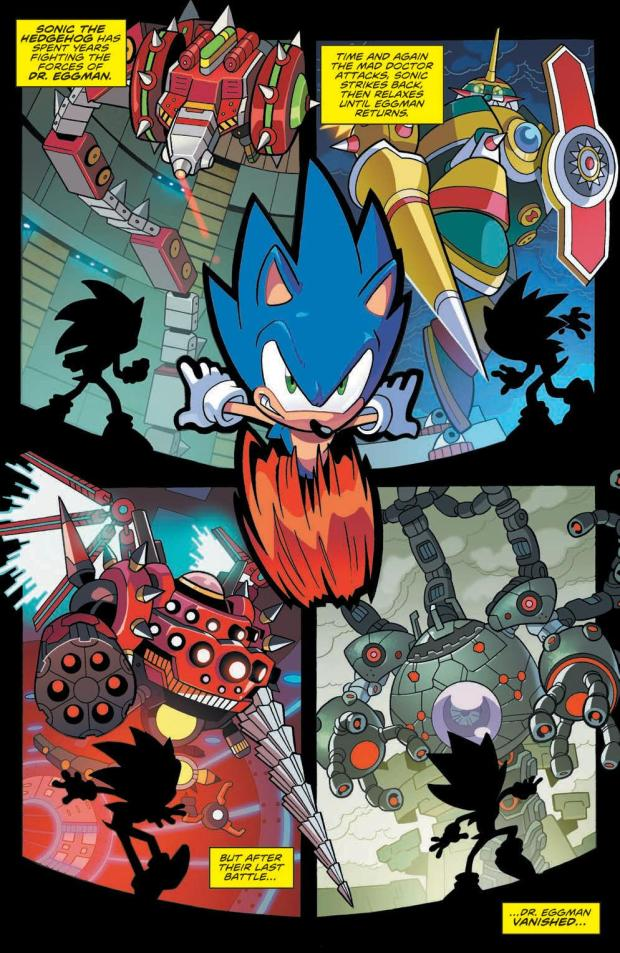 Review Sonic The Hedgehog 1 Idw Publishing Big Comic Page