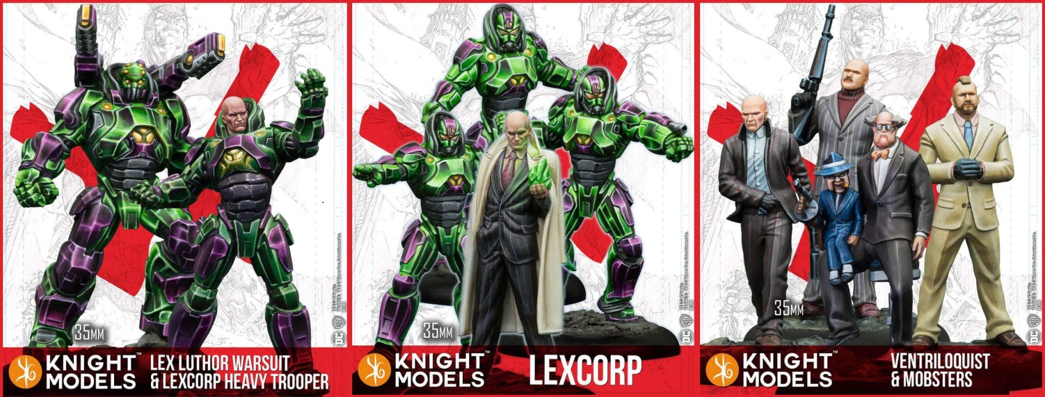 Lex Luthor Warsuit Metal Knight Models DC Miniatures Game DC Comics New