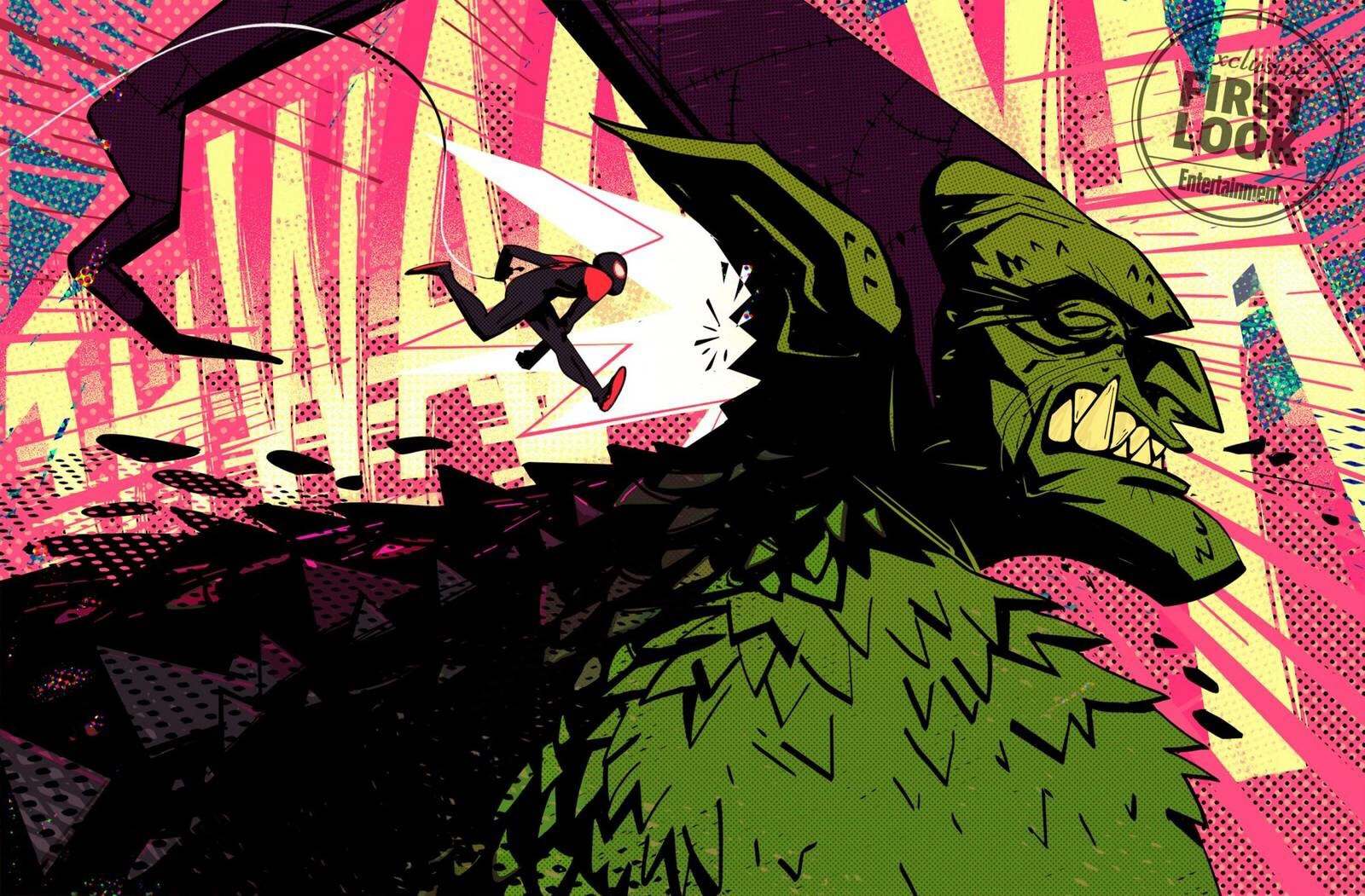 first look at green goblin from into the spider verse big comic page