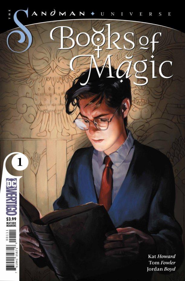 Capa de Books of Magic #1 por Kai Carpenter.