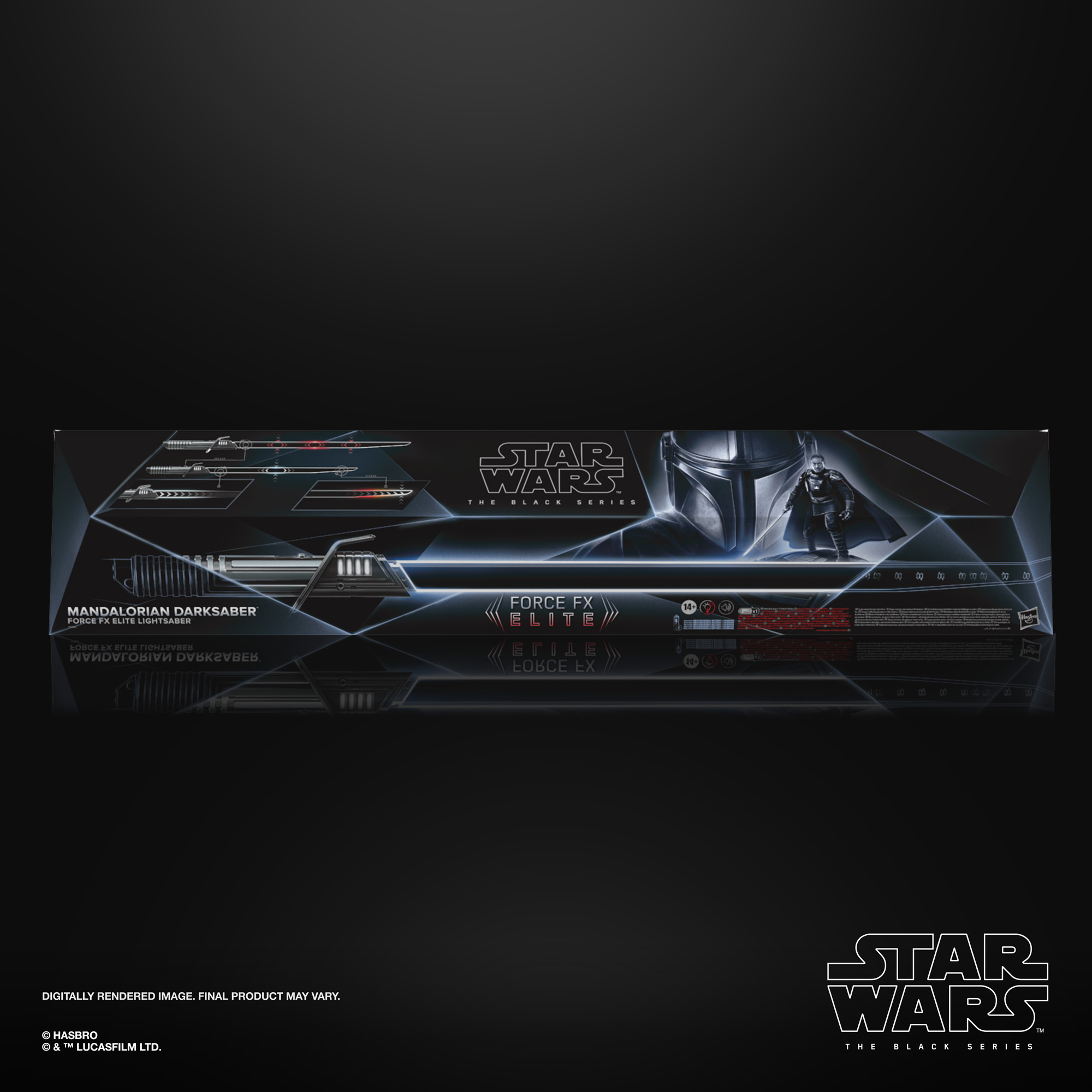 STAR WARS THE BLACK SERIES THE MANDALORIAN DARKSABER FORCE FX ELITE LIGHTSABER – in pck