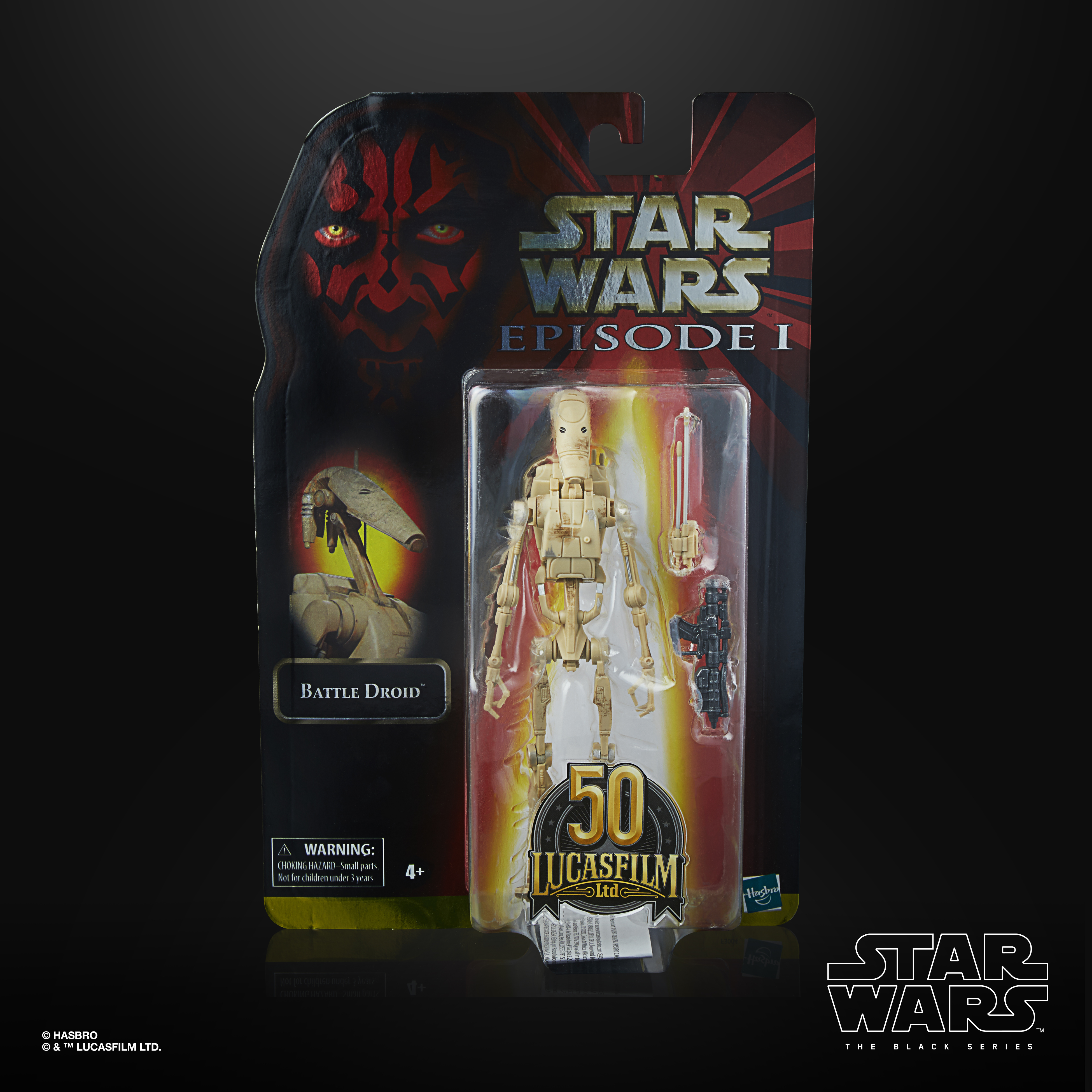 STAR WARS THE BLACK SERIES LUCASFILM 50TH ANNIVERSARY 6-INCH BATTLE DROID Figure – in pck(1)