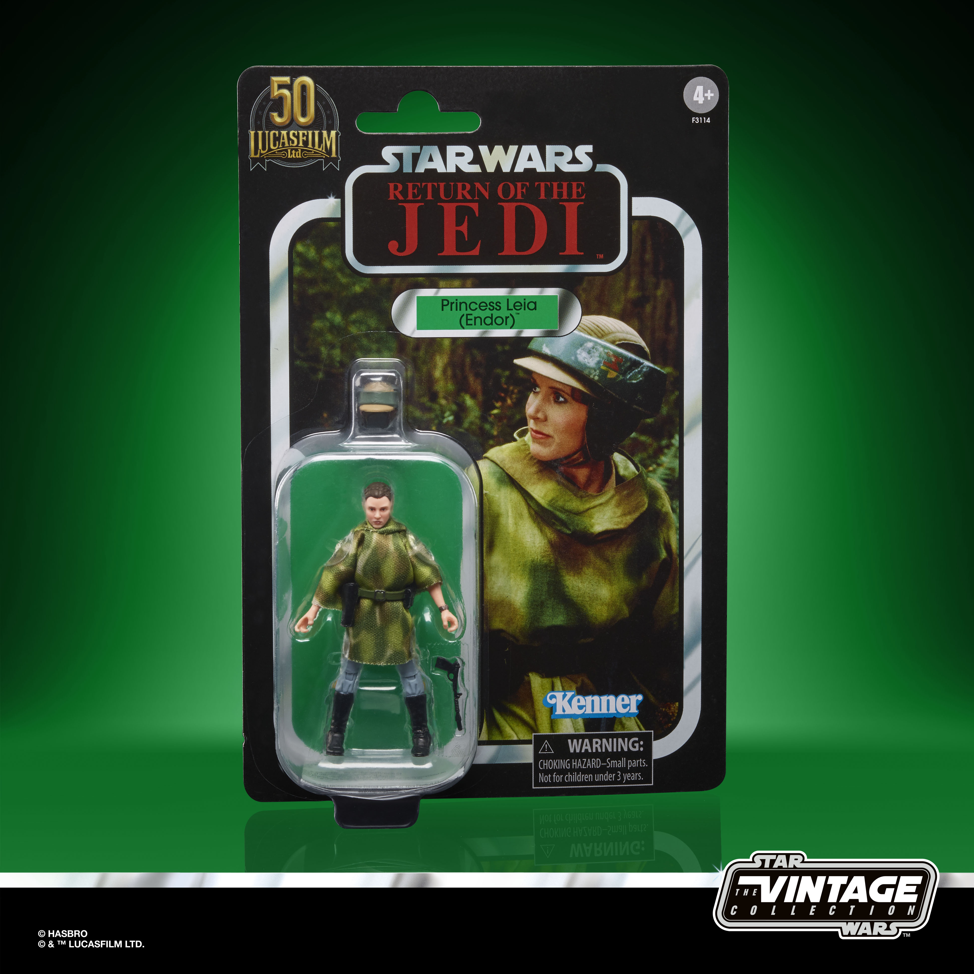 STAR WARS THE VINTAGE COLLECTION LUCASFILM FIRST 50 YEARS 3.75-INCH PRINCESS LEIA (ENDOR) Figure – inpck