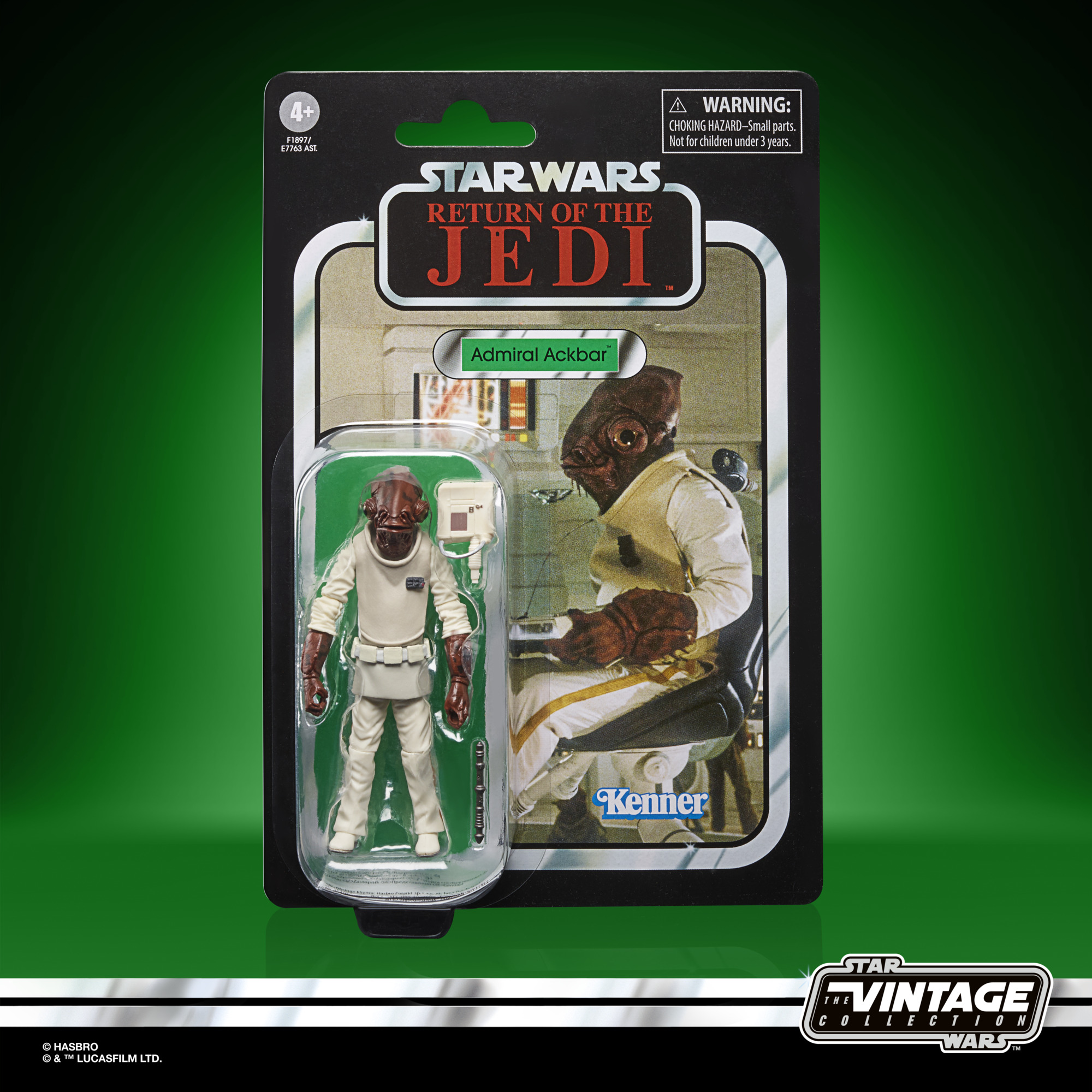 STAR WARS THE VINTAGE COLLECTION 3.75-INCH ADMIRAL ACKBAR Figure – in pck(1)